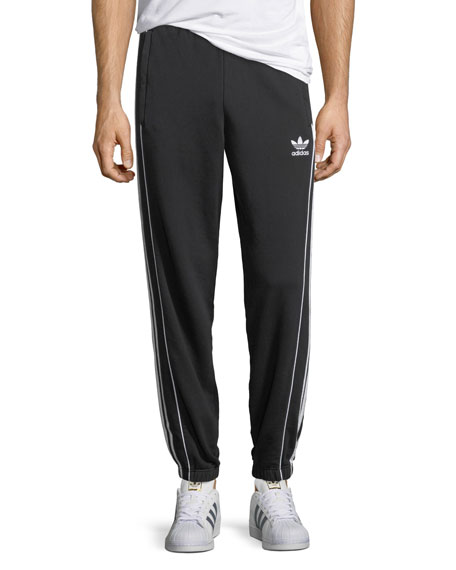 Contrast-Trim Pipe Sweatpants