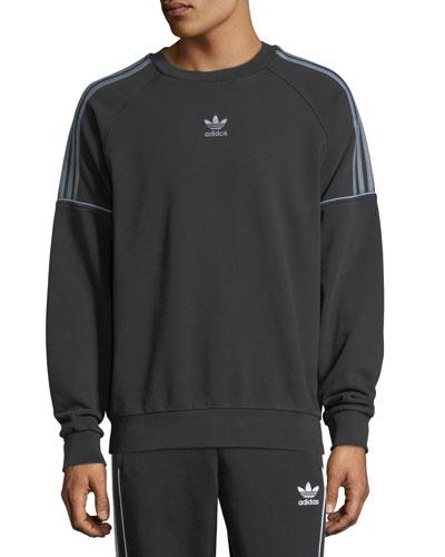 Piped-Trim Crewneck Sweatshirt