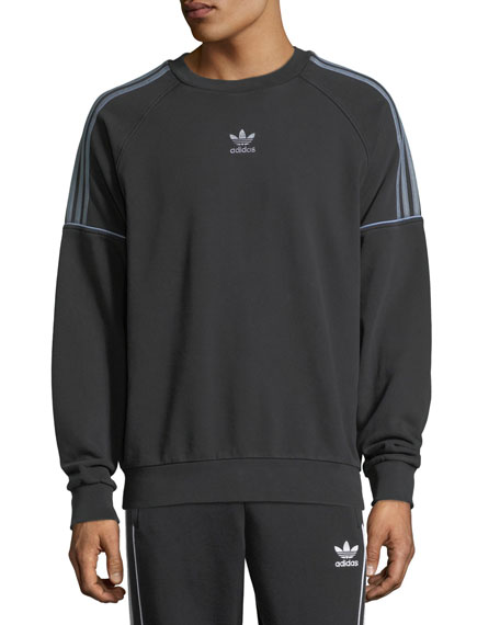 Piped-Trim Crewneck Sweatshirt