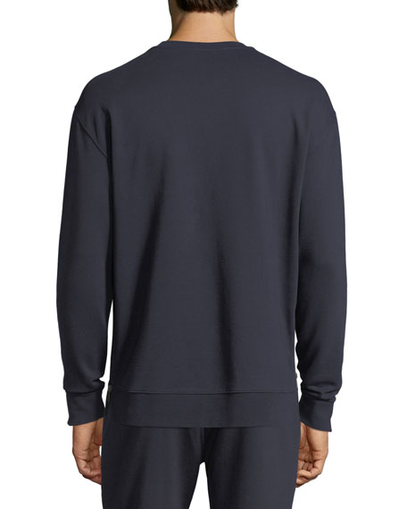 Side Zip Crewneck Sweater, New Coastal