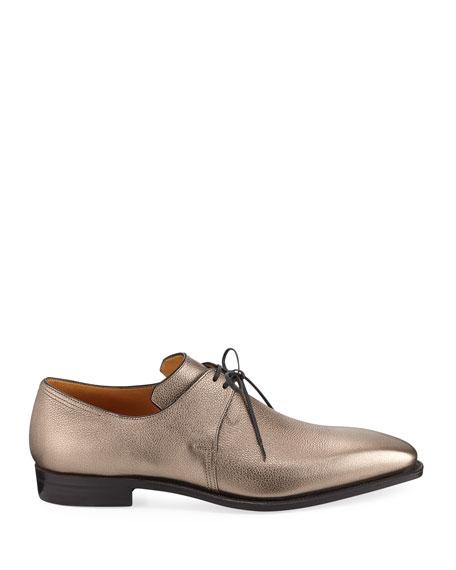 Arca Metallic Leather Derby Shoe