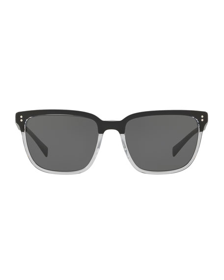 Two-Tone Acetate Sunglasses