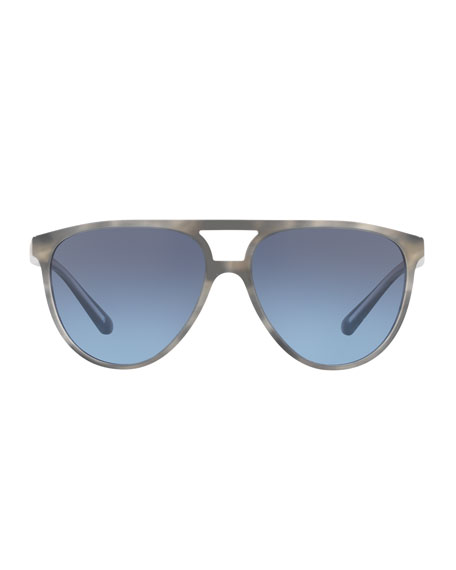 Acetate Aviator Sunglasses with Brow Bar
