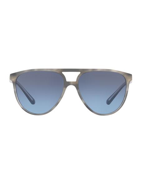 Acetate Aviator Sunglasses with Brow Bar