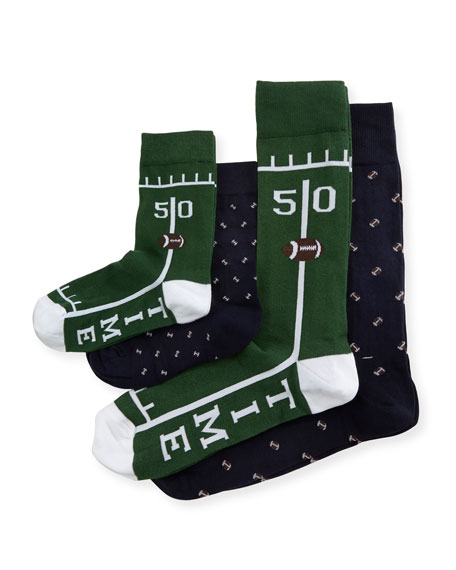 Dad & Dude Game Time Socks Cube, Green
