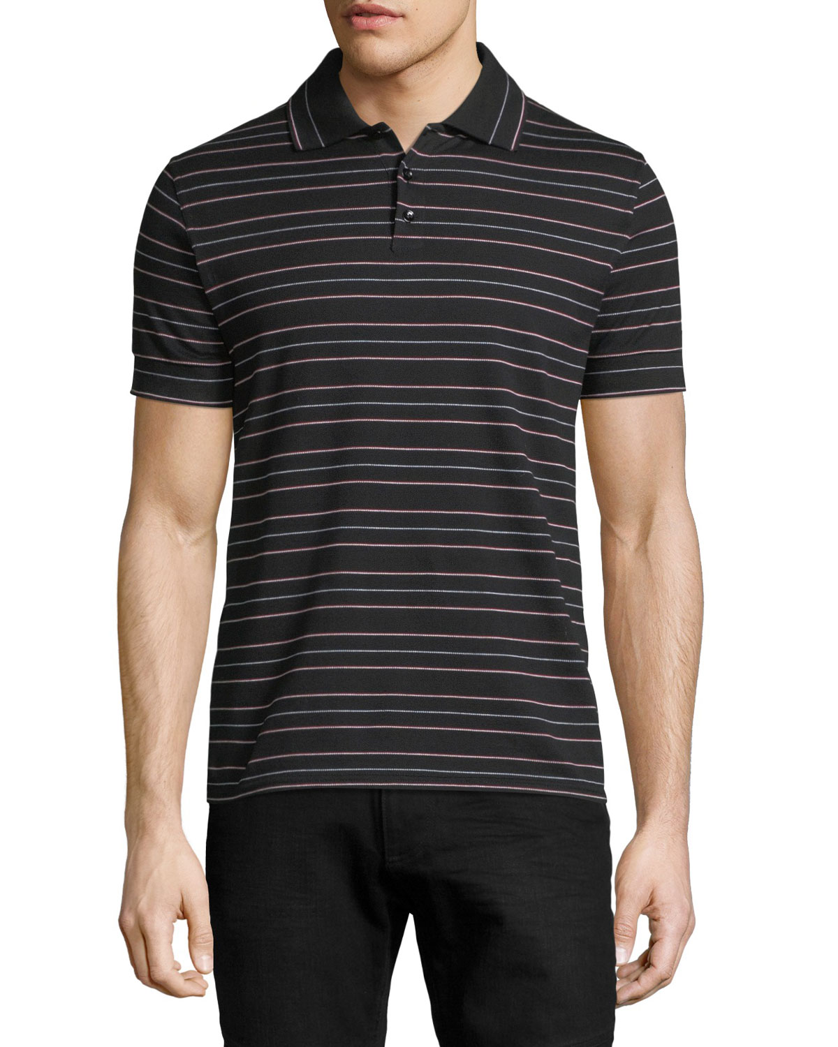 8492fbcea7 Saint Laurent Striped Polo Shirt