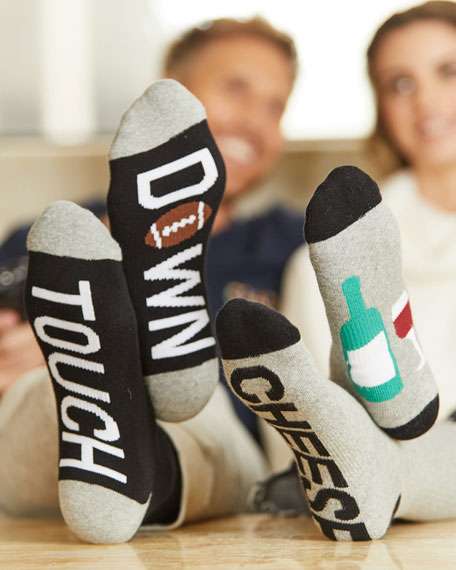 Touchdown Typographic Socks