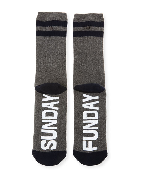 Sunday Funday Typographic Socks