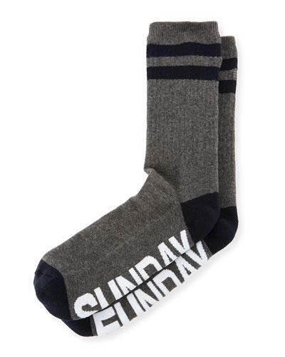 Sunday Funday Typographic Socks