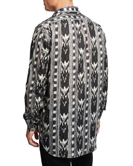 Ikat-Print Dress Shirt