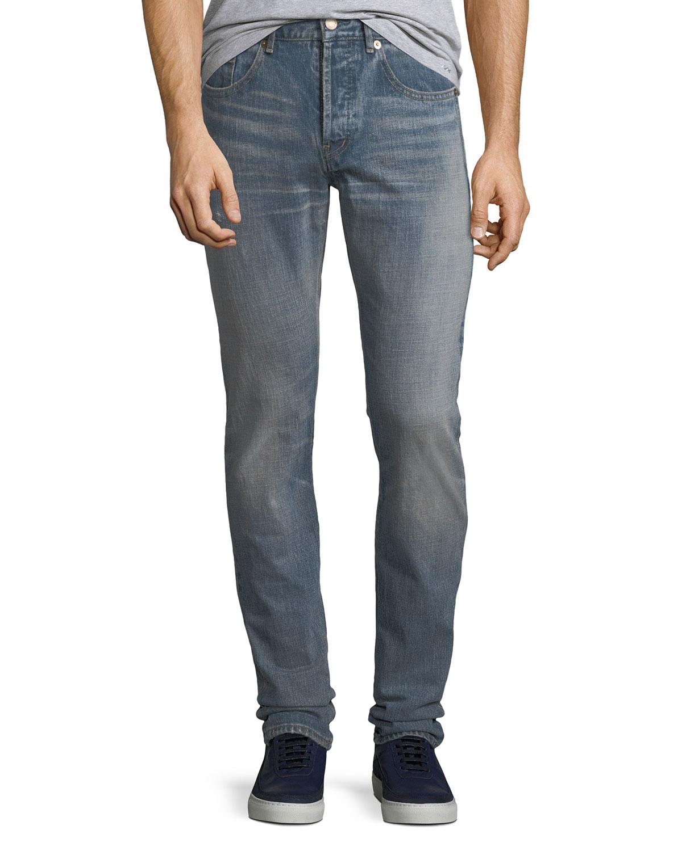 64ce9cb144c Saint Laurent Men's Slim-Fit Light-Wash Jeans