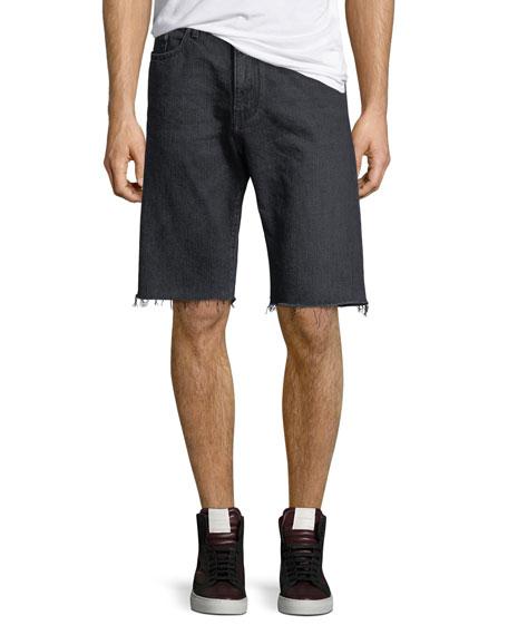 Raw-Edge Bermuda Shorts