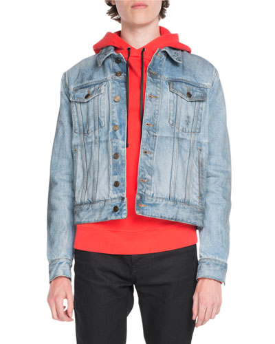 Classic Light-Wash Denim Jackets