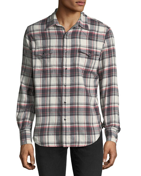 Classic Plaid Western Shirt