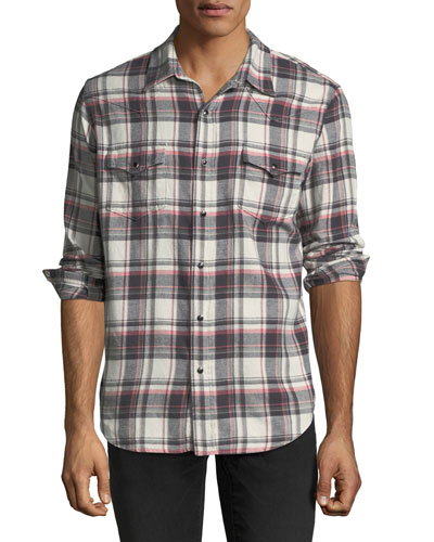 Classic Plaid Western Shirt