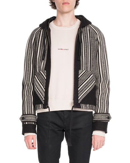 Saint Laurent Baha Wool-Blend Zip-Front Jacket