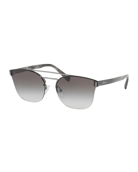 Prada Square Aviator Sunglasses