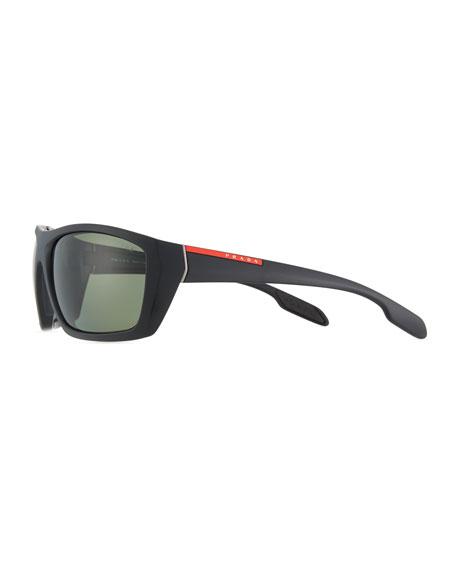 Rectangular Plastic Sunglasses