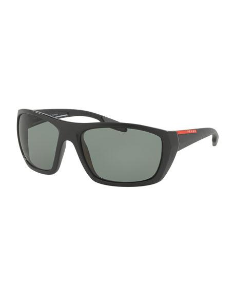 Prada Rectangular Plastic Sunglasses