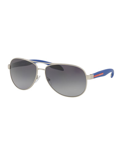 Plastic and Metal Aviator Sunglasses