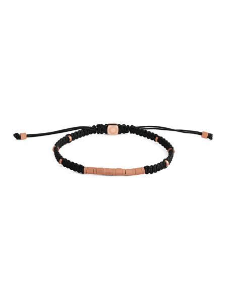 Men's Braided Rose Gold-Plated Bracelet