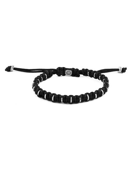 Men's Braided Silver Bracelet