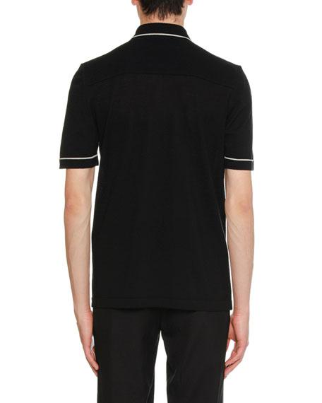 Two-Tone Wool Bowling Shirt