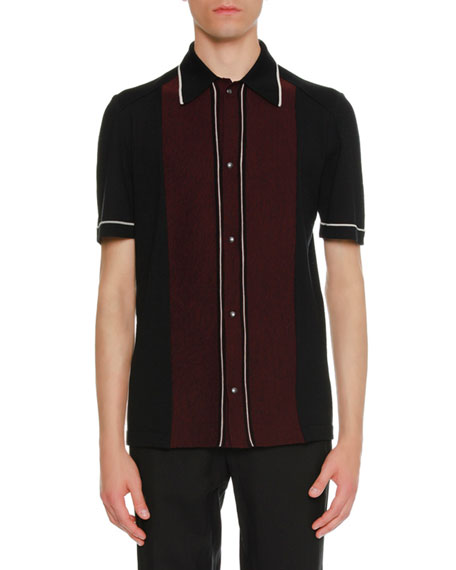Lanvin Two-Tone Wool Bowling Shirt