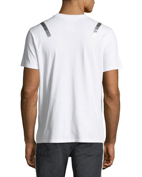 Taped-Shoulder Jersey T-Shirt