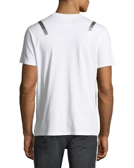 Taped-Shoulder Jersey T-Shirt