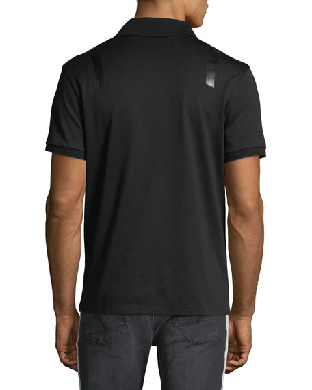 Taped-Shoulder Polo Shirt