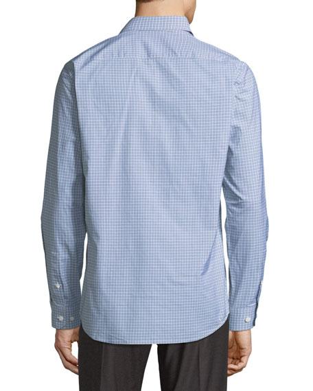 Clean Grid-Print Sport Shirt