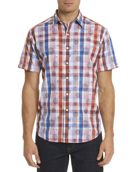 Robert Graham Desmodium Plaid Short-Sleeve Sport Shirt
