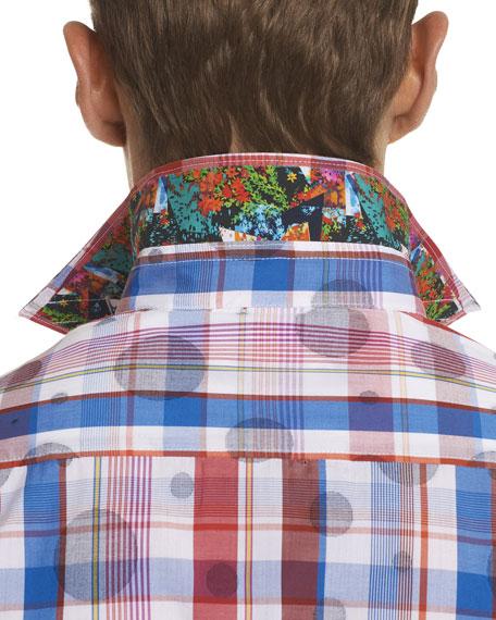 Desmodium Plaid Short-Sleeve Sport Shirt