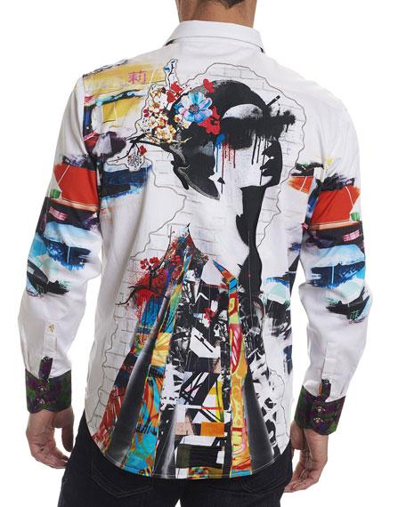 Limited Edition Travail Umbrella-Print Sport Shirt