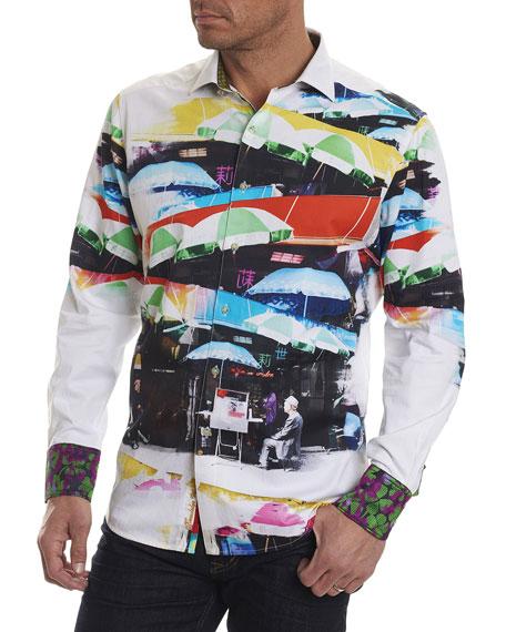 Robert Graham Limited Edition Travail Umbrella-Print Sport Shirt