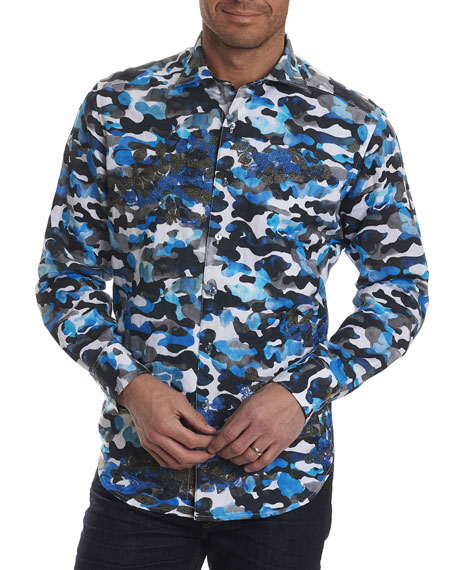 Robert Graham Limited Edition Camouflage Sport Shirt