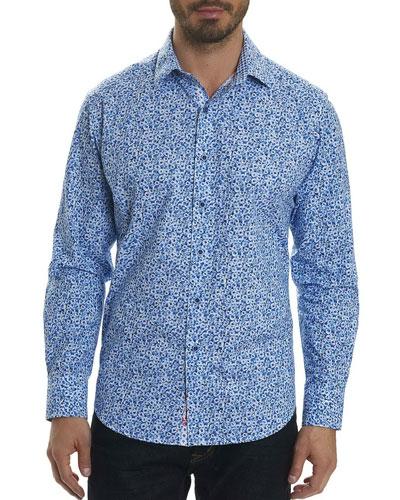 Potts Floral-Print Sport Shirt