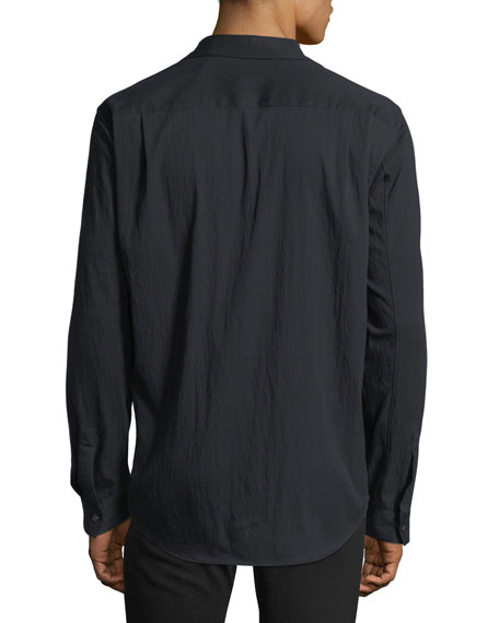 Drape Twill Long-Sleeve Sport Shirt