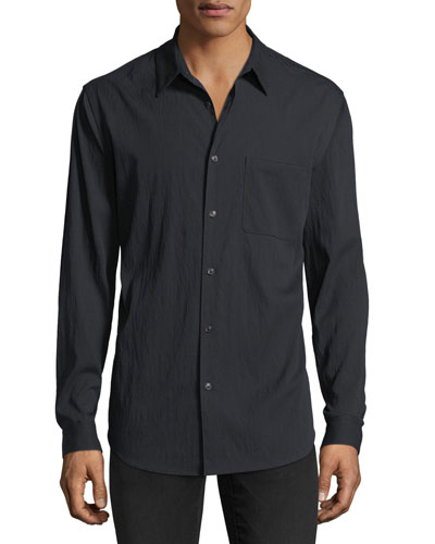 Drape Twill Long-Sleeve Sport Shirt
