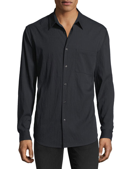 Theory Drape Twill Long-Sleeve Sport Shirt