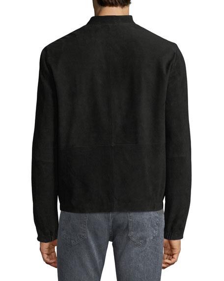Arvid Suede Zip-Front Coat