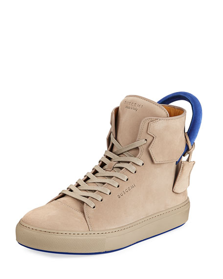 Buscemi Men's 125mm Nubuck High-Top Sneakers