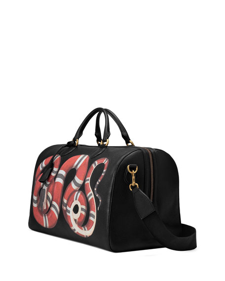 Men's King Snake-Print Duffel Bag
