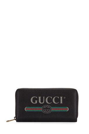 Gucci Logo Zip-Around Wallet