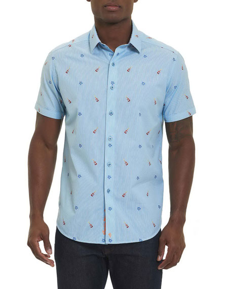 Robert Graham Guitar Coupe Short-Sleeve Sport Shirt