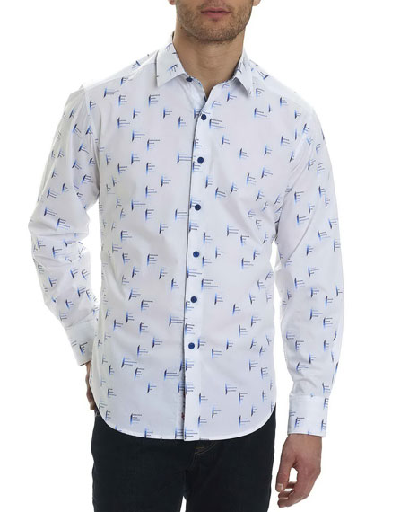 Robert Graham Reid Geometric-Print Sport Shirt