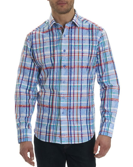 Robert Graham Stowe Check-Print Sport Shirt