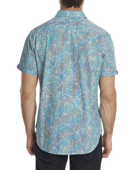 Rio Abstract-Print Short-Sleeve Sport Shirt