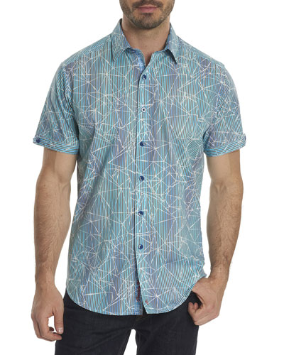 Rio Abstract-Print Short-Sleeve Sport Shirt